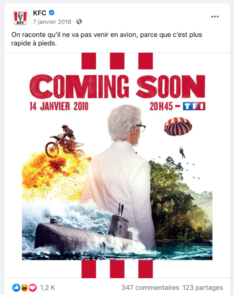 Post Facebook KFC