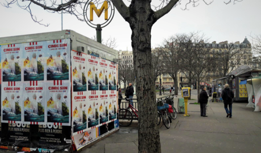 Affiches KFC à Paris