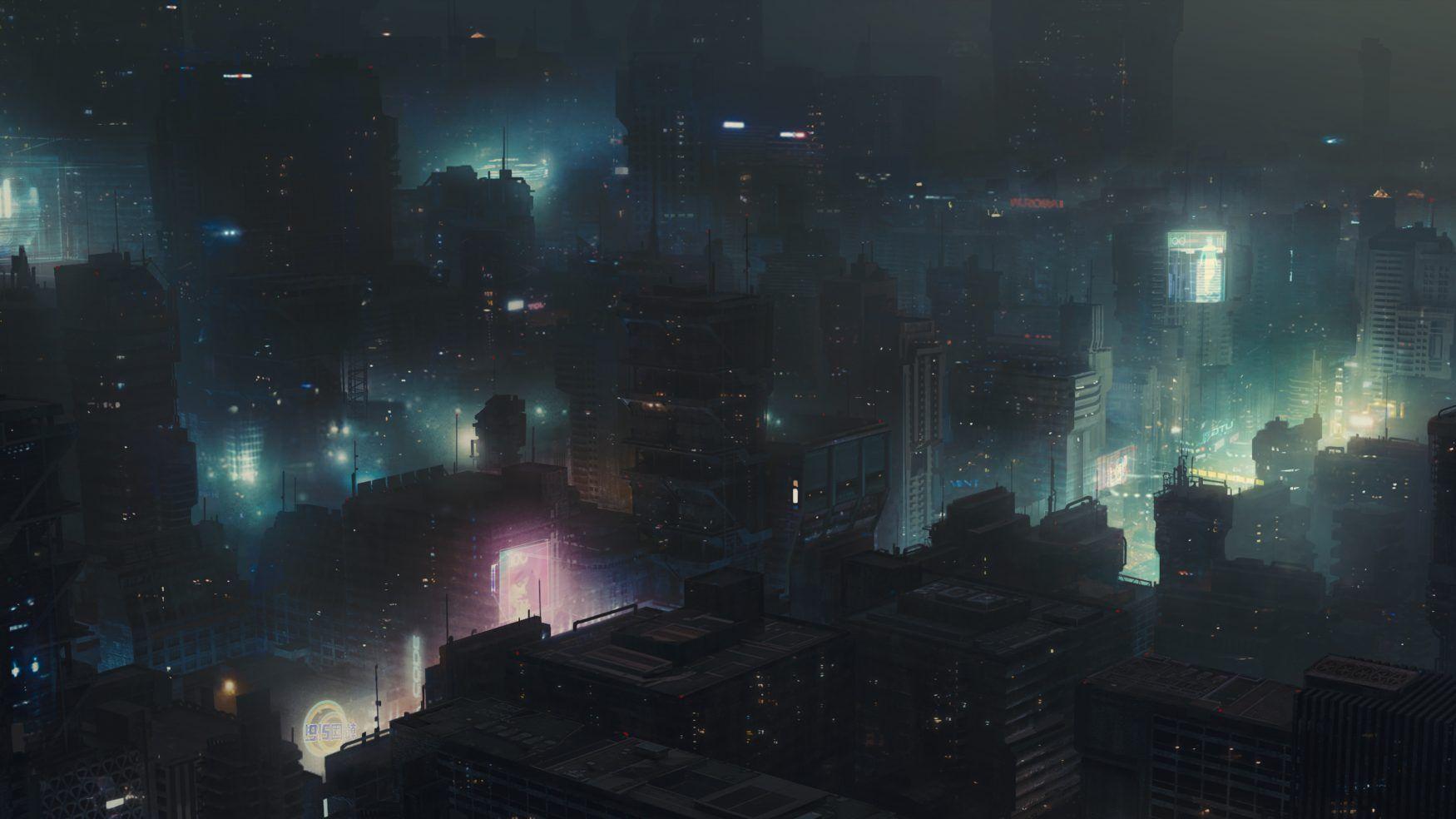 La ville de Blade Runner 2049, un film résolument cyberpunk