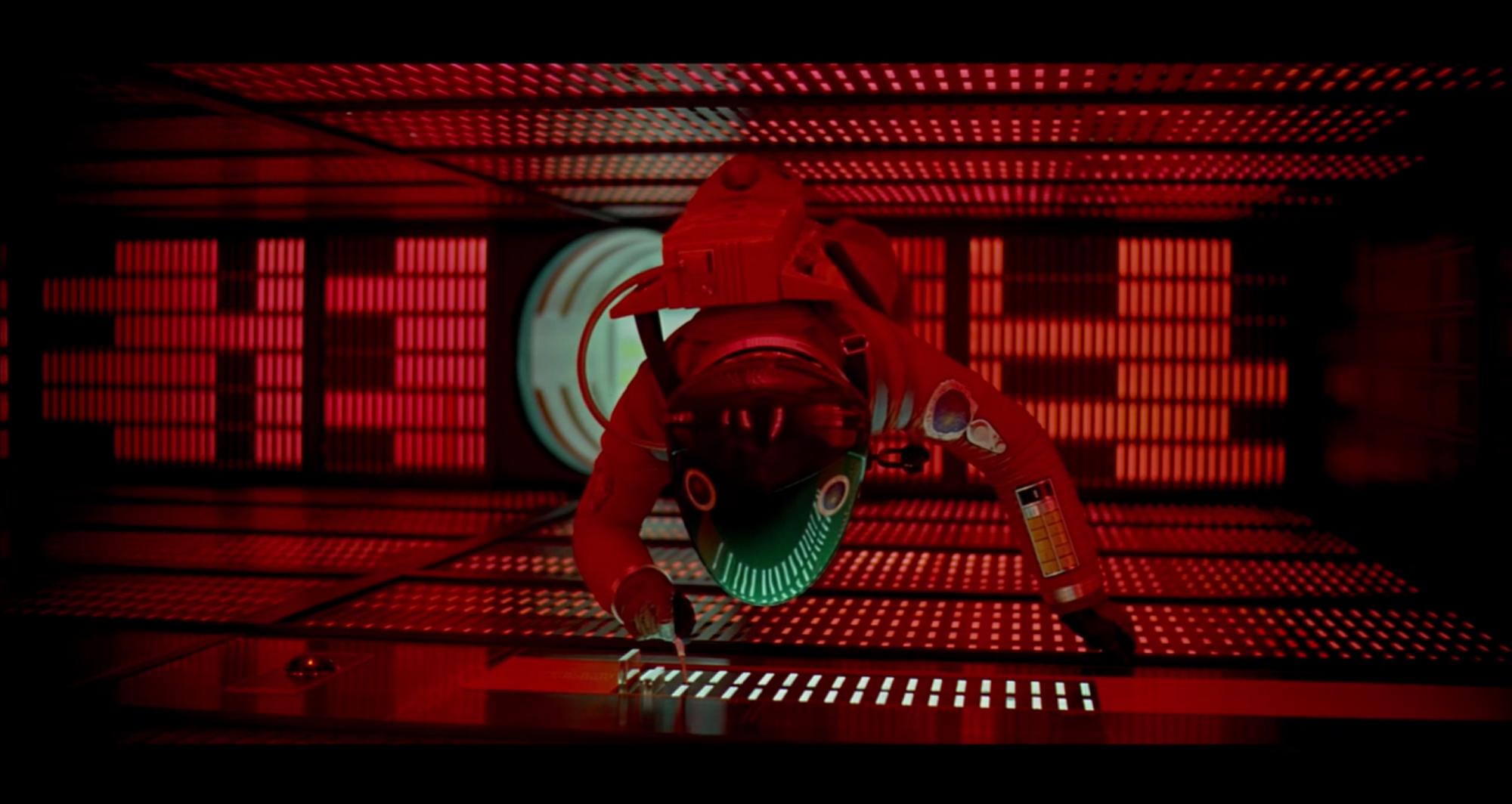 HAL 9000 (en bas de l'image) dans 2001 : L'Odyssée de l'espace